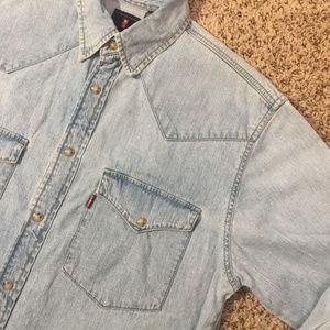 Levi's Red Tab Jean Snap Button Down Shirt